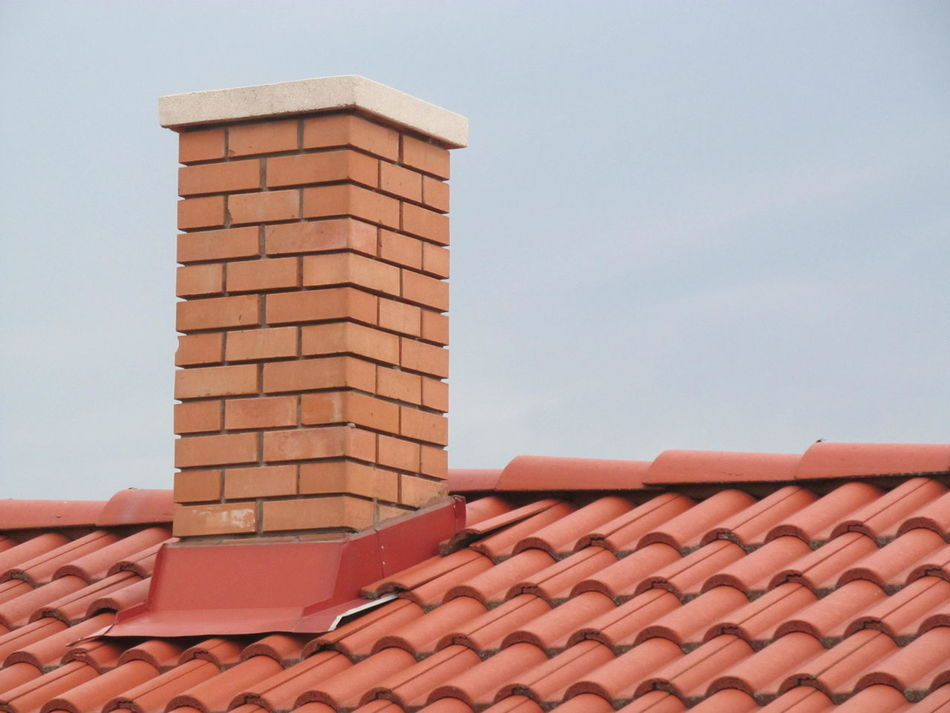 Chimney before winter Brick Bricks Building Chimney Houseroof Roof Tile