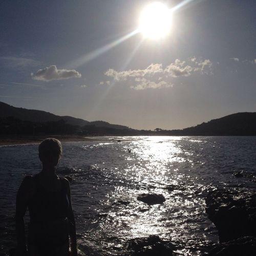 Light And Shadow on the Beach at Elba Island