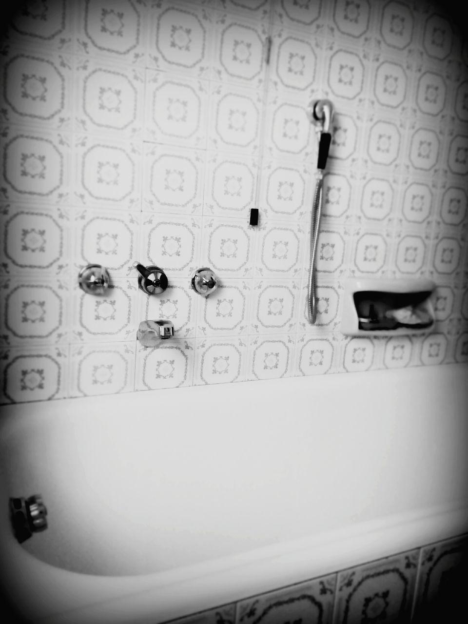 Bathtub In Bathroom At Home