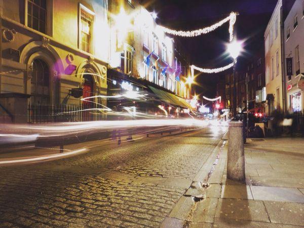 Slow Shutter Speed on Garston Street in Dublin