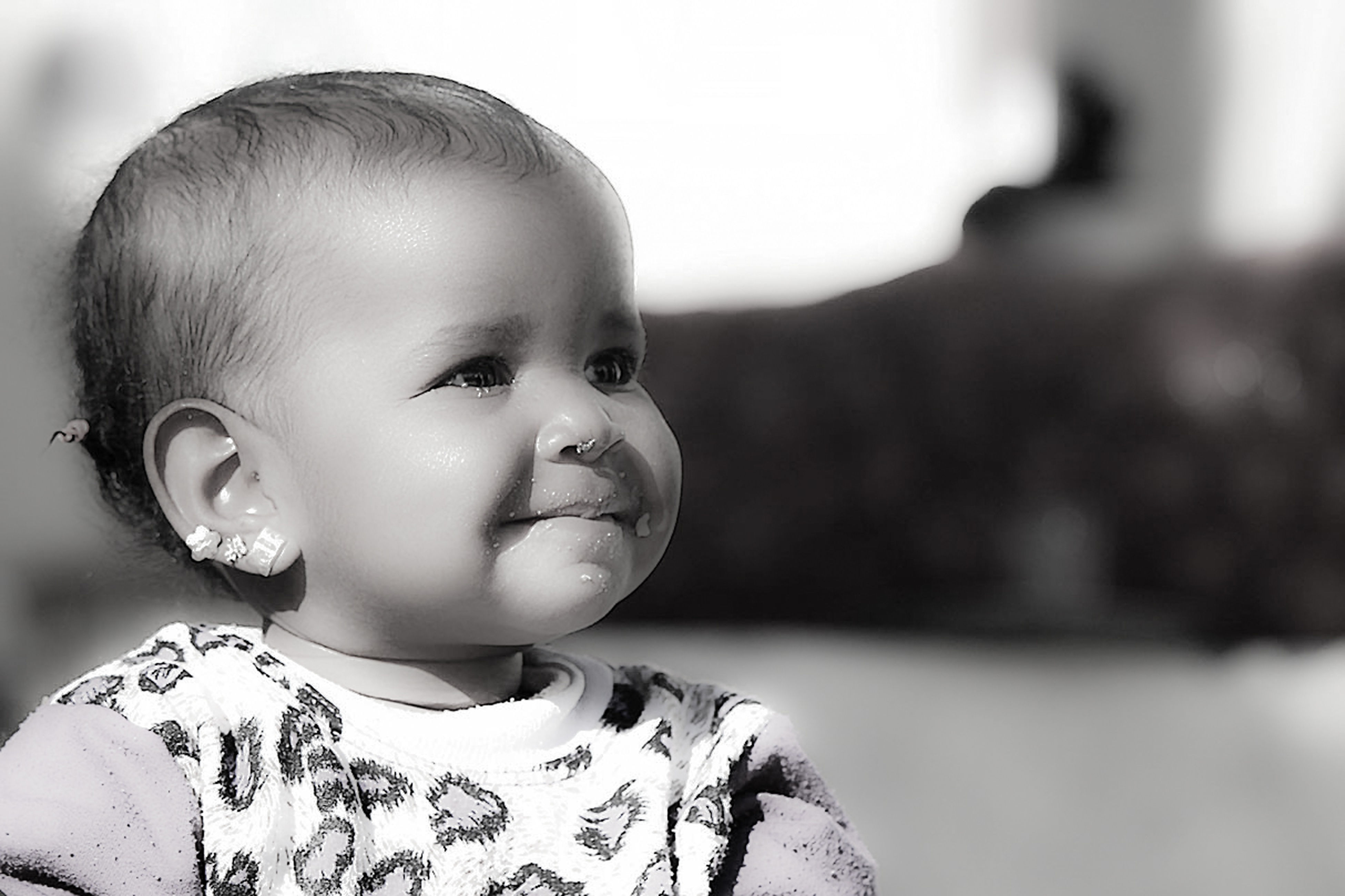 baby, babies only, headshot, happiness, human face, domestic life, smiling, close-up, people, indoors, day