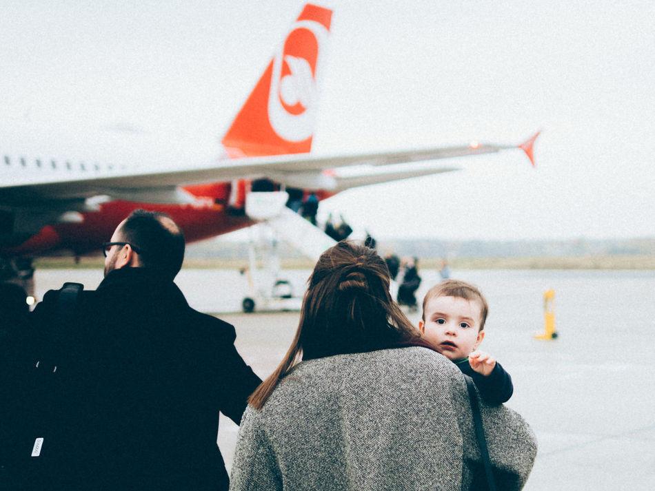 first flight Air Berlin Baby Flight Tegel