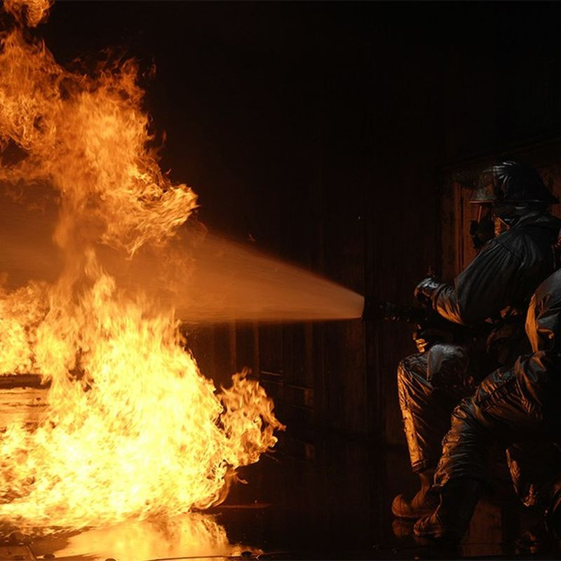 FavoritePhotos Firefighters practice fire Suppression tactics in a live Fire training building. @firefighter_brotherhood airforce usaf military photos photography unitedstates us usa america photoftheday heat smoke firefighting instagood followme