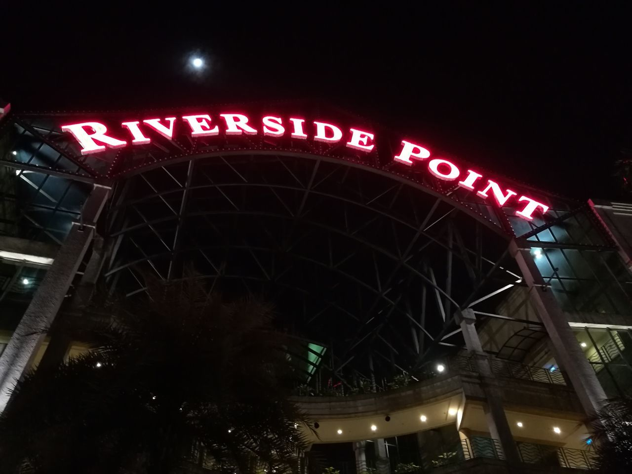 Riverfront Sigapore Night Lighting Equipment Neon Outdoors City