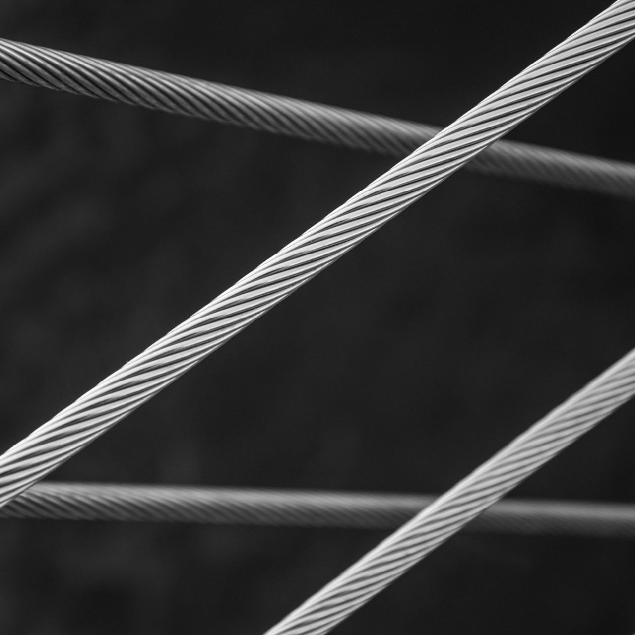 Steely Geometrics Abstract Black And White Photography Cables Close-up Day Geometric Shapes Monochrome No People Outdoors Steel Cable Urban Geometry Fine Art Photography Minimalz Welcome To Black Premium Collection