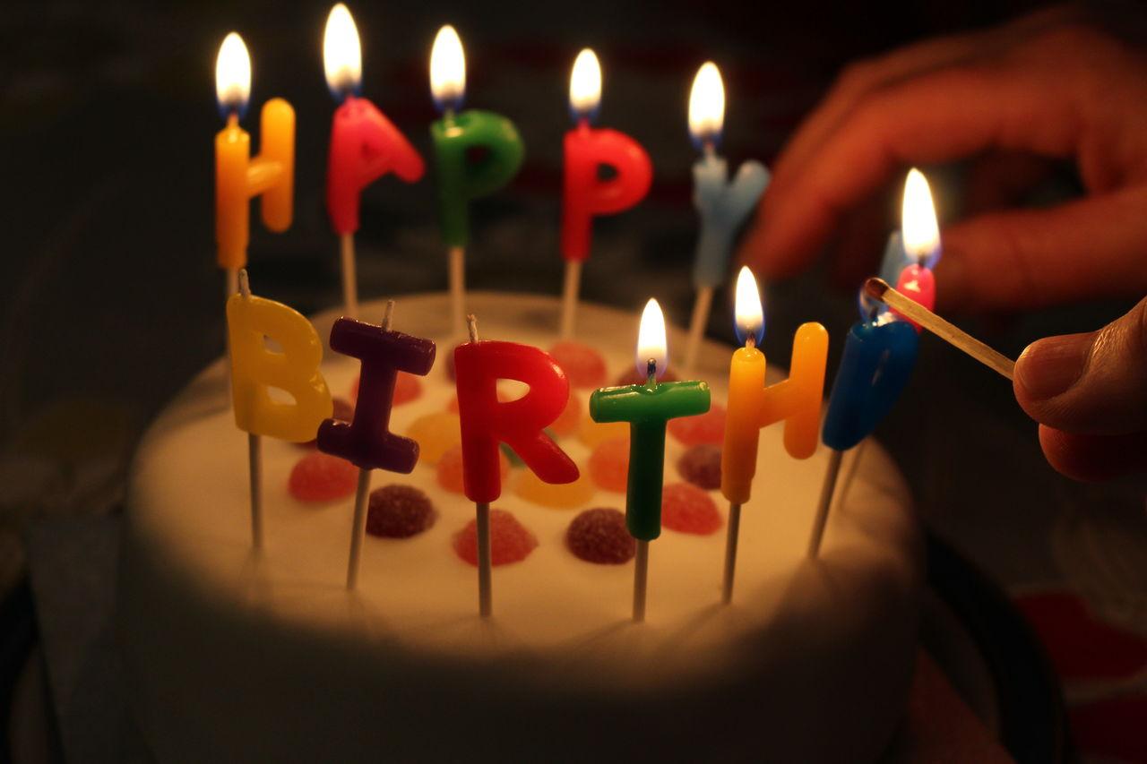 Birthday! Birthday Happy Birthday! Birthday Cake Candles By Candlelight Celebration Birthday Celebration! Cake