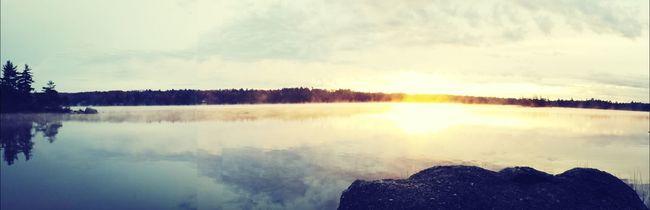 Sunrise in Penobscot, Maine.