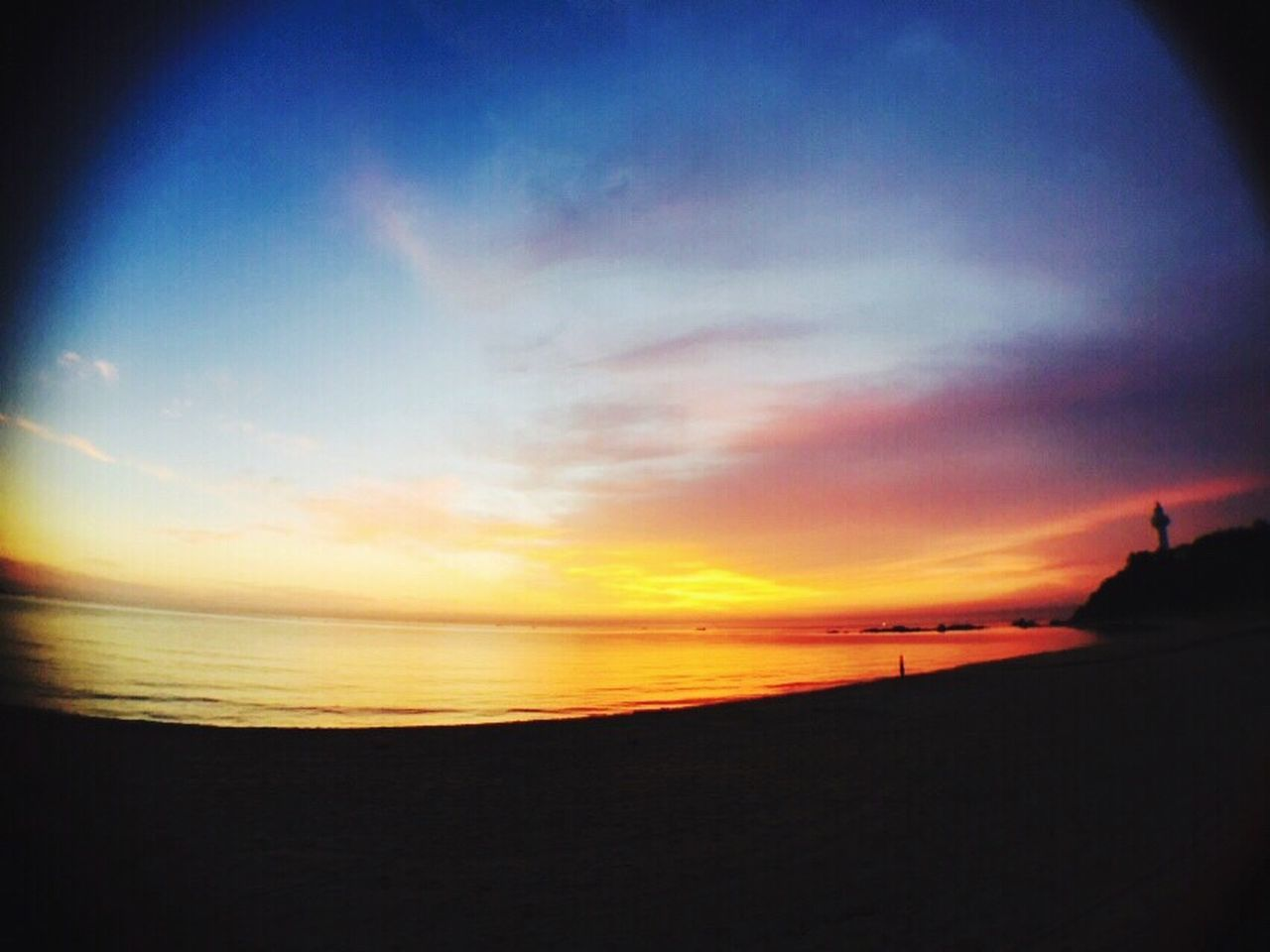 East Sea Korea Sea Sky Sunset Beach Nature Wide-angle Lens IPhone First Eyeem Photo Long Goodbye