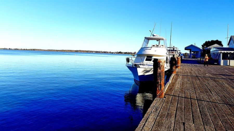 Nautical Vessel Sea Water Outdoors Sky Day Sunlight Clear Sky No People Nature Scenics Wharf Boat Retirement Sommergefühle