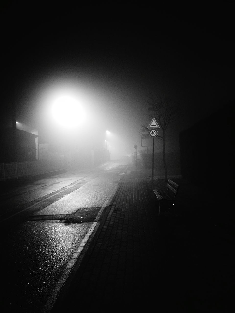 night, illuminated, lighting equipment, street light, transportation, outdoors, no people, sky