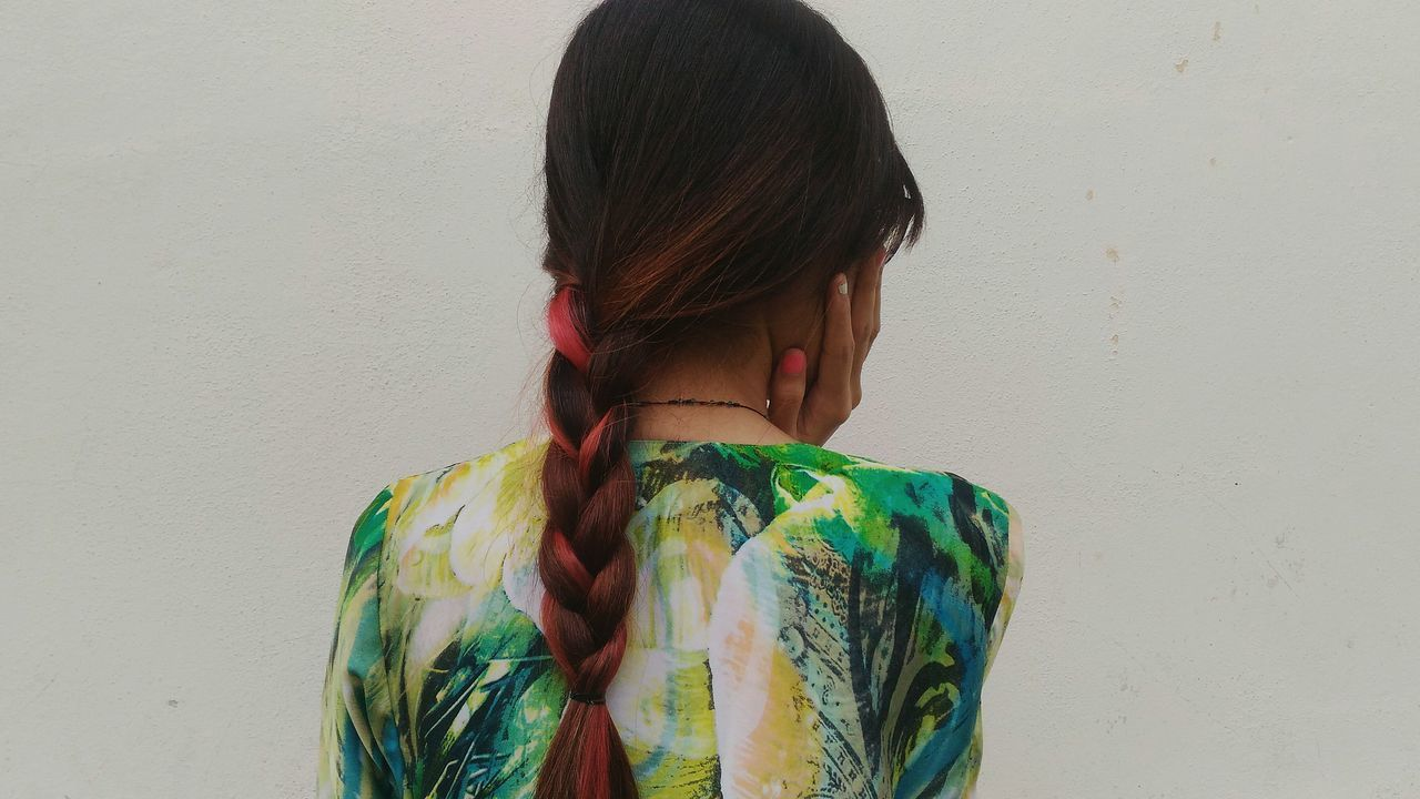 Hair Hairstyles Pink Braided Hair Braids One Young Woman Only