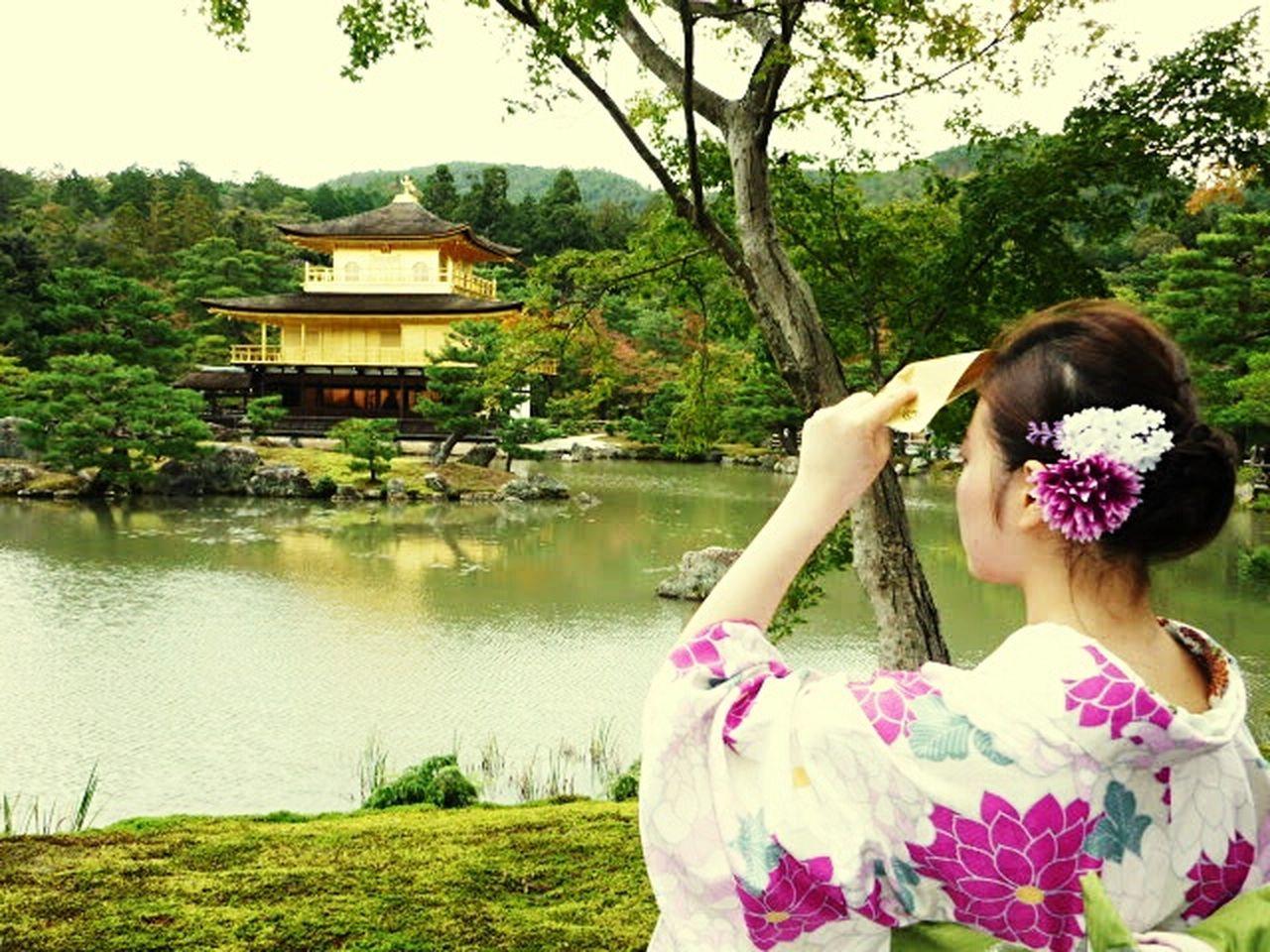 Women Around The World Women Japanese Temple Gueisha Golden Temple Beauty