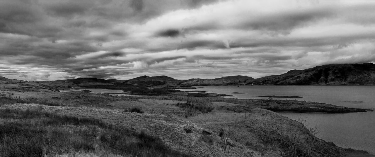 Taken during a walk at the north end of Lismore. Black And White Cloud - Sky Landscape Lismore Scotland Monochrome Nature Scenics Scotland Sky Tranquility