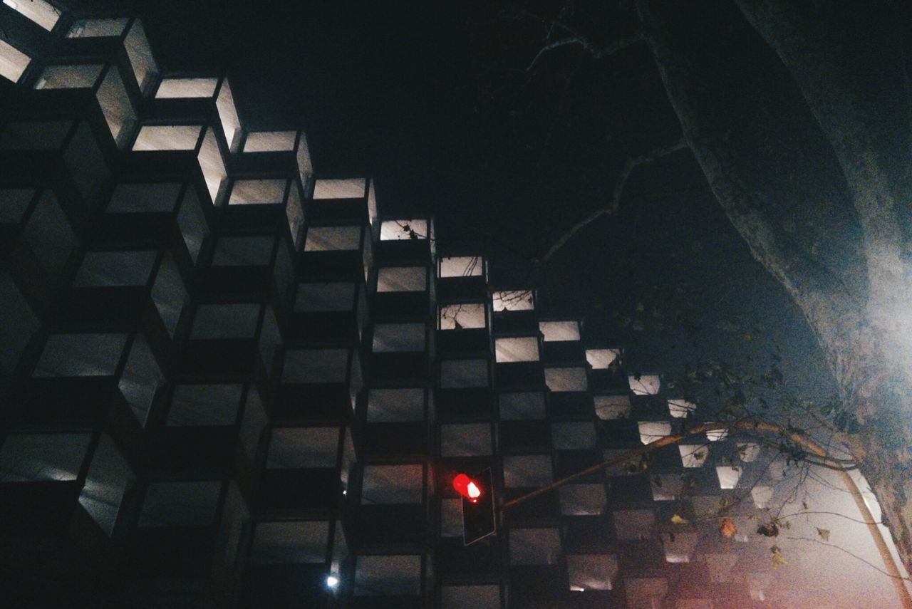Brutalism Building Exterior Low Angle View Low Angle View Illuminated No People Built Structure Night Sky Outdoors Architecture