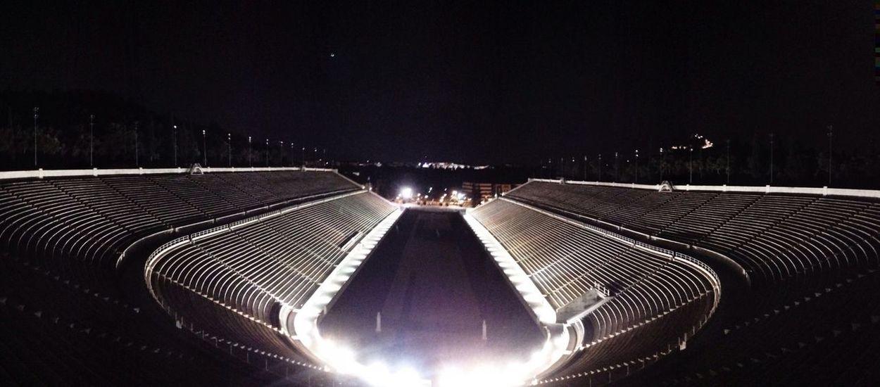 Night Photography Olympic Games Greek Stadium