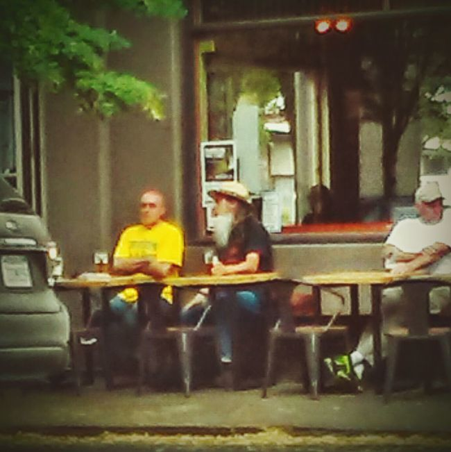 People Watching Having A Drink Friends Hanging Out Downtown Casual 3rd Street McMinnville, Oregon People Together Street Photography On The Road Hello World Out And About Two Is Better Than One Eyeemphotography EyeEm Team Real Life Color Palette Focus On Foreground Natural Light Portrait 3rd Street Promenade Summertime Eyeemphoto Streetzen Driving Around