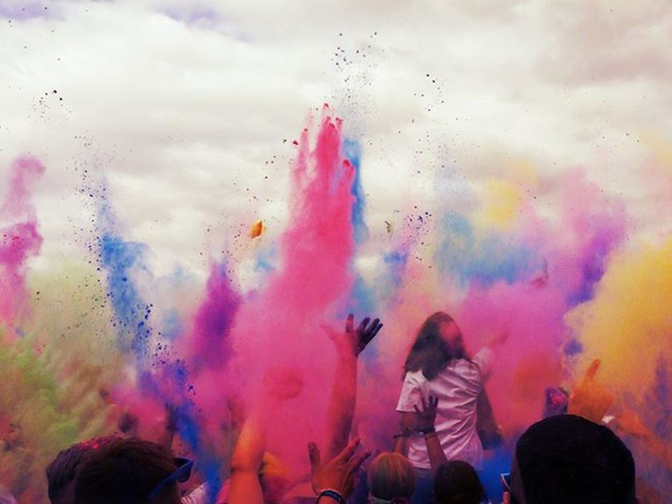 feel the power - love the colour.Holi Festival Don't Be Square