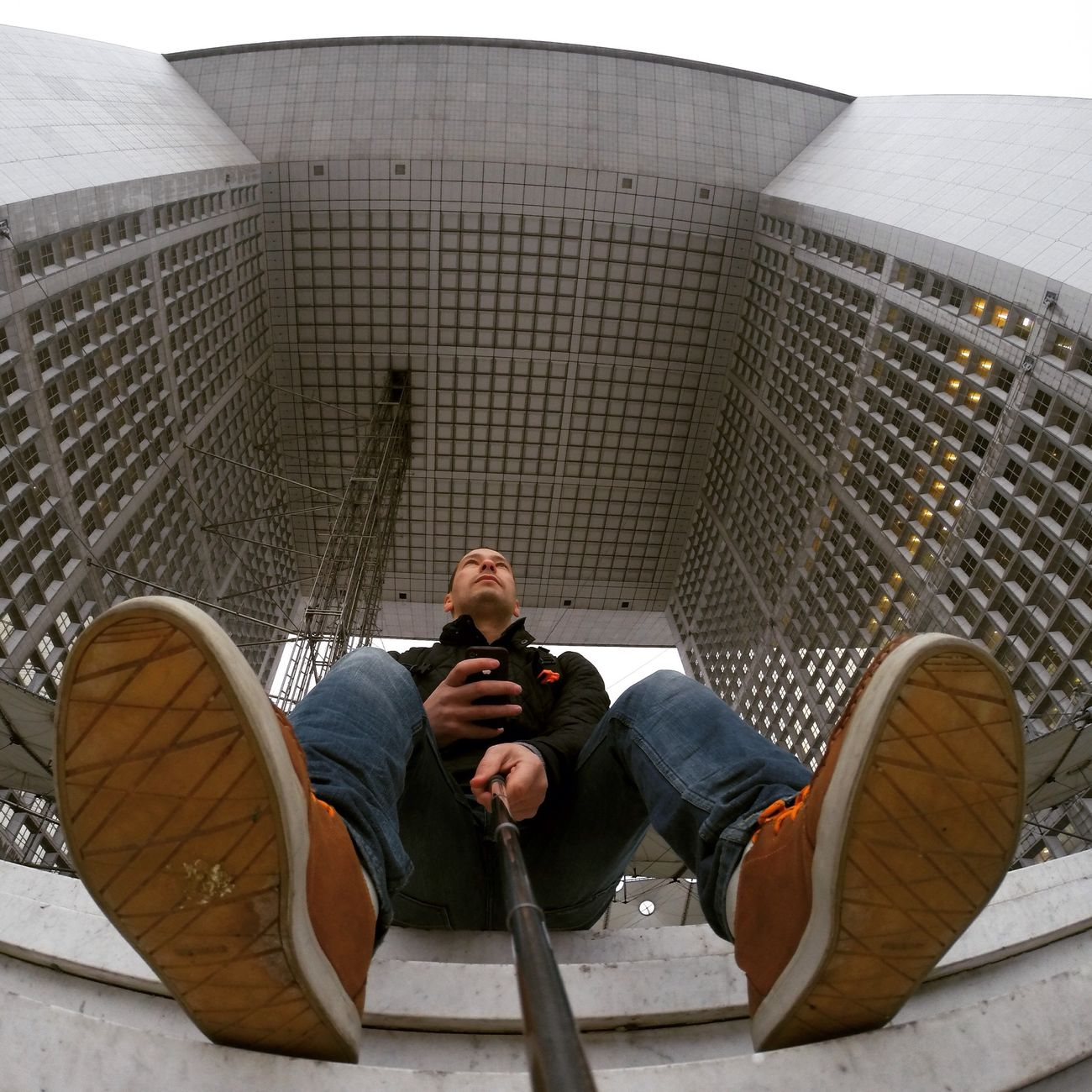 La Grande Arche Ladefense Selfie Traveling
