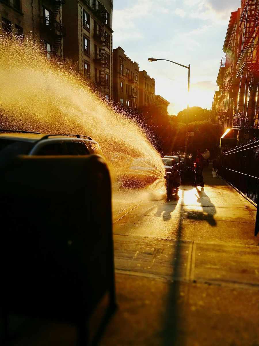 Water Wet Outdoors Full Length City Summer Hydrant Mailbox Hydrantfountain Fountain in Harlem, NYC Sommergefühle