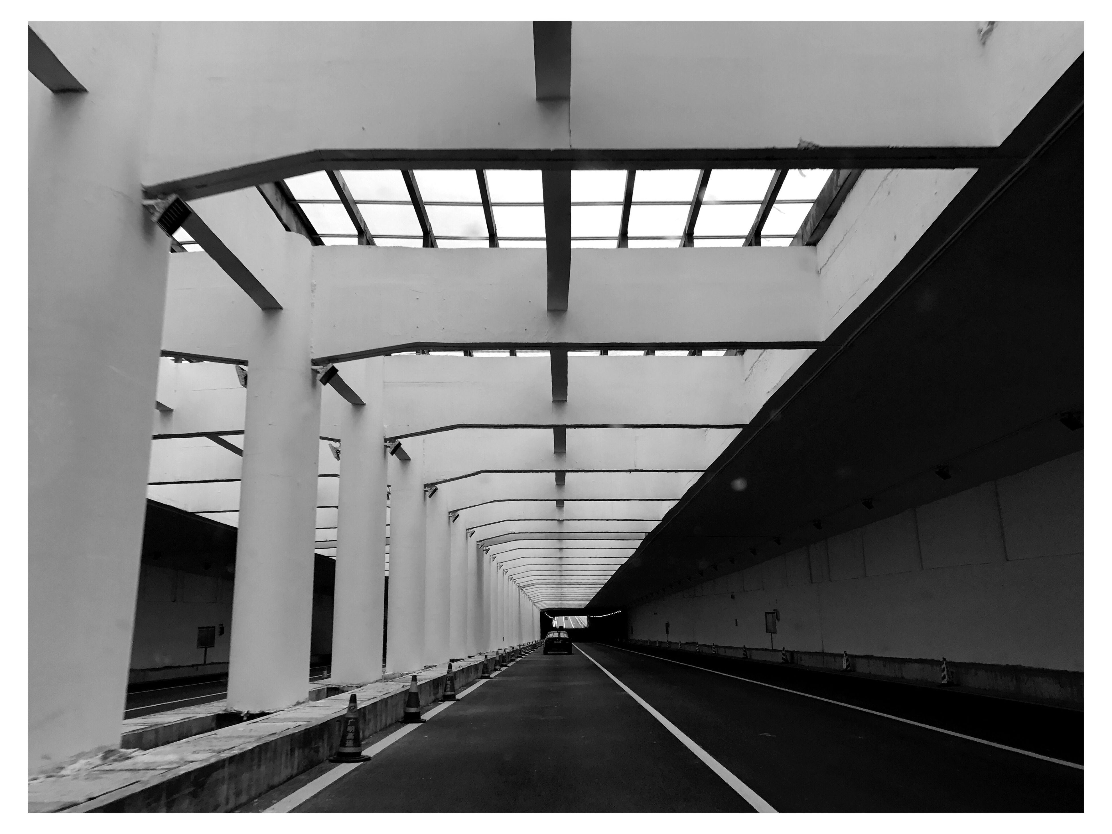 the way forward, architecture, indoors, diminishing perspective, auto post production filter, transfer print, built structure, vanishing point, connection, transportation, ceiling, surface level, long, modern, empty, bridge - man made structure, architectural feature, day, in a row, underpass, repetition, interior, covered bridge, conformity, elevated walkway, ceiling light, no people