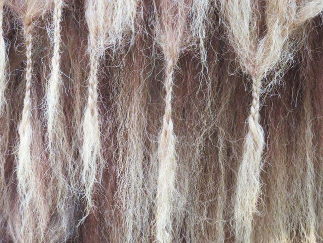 Woven Pattern Backgrounds Full Frame Fur Braided Hair Maximum Closeness