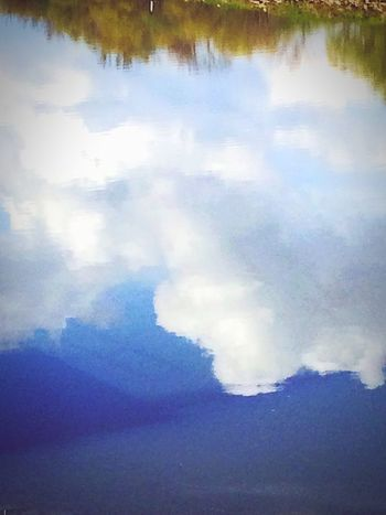 P O L A N D. MMXVII. Water Tranquility Cloud - Sky Nature Day Tranquil Scene Reflection No People Lake Sky Outdoors Park Poland