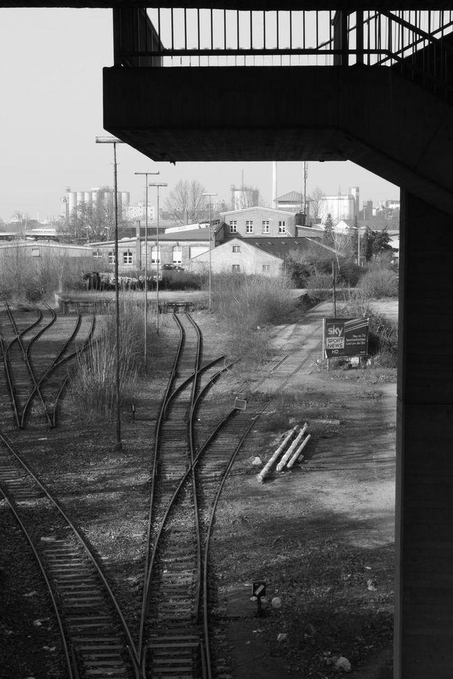 Architecture Architektur Bahn Bahnschienen Blackandwhite Industrial Modern Life Schwarzweiß Transportation