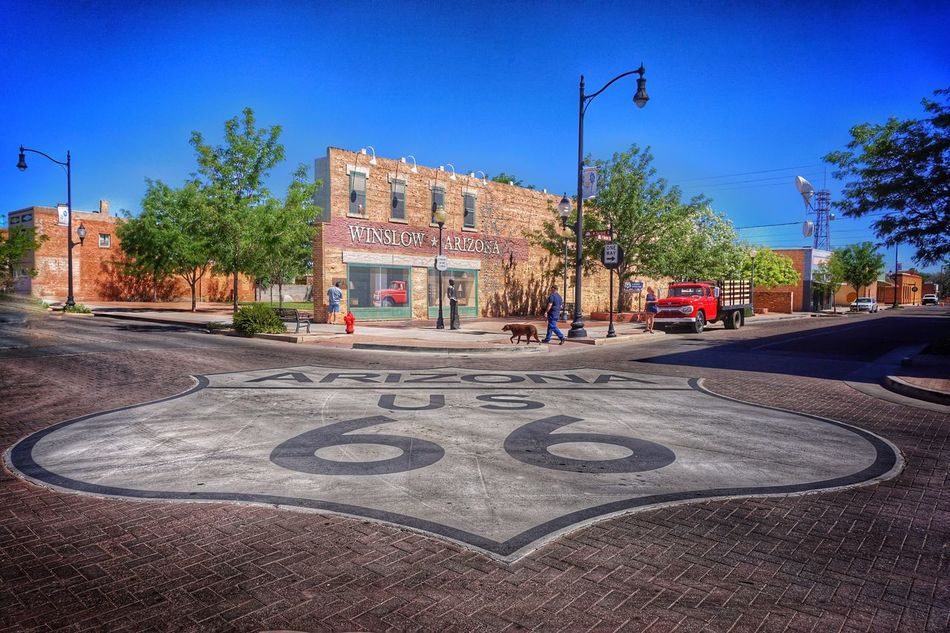 The Journey Is The Destination Route 66 Standing On The Corner Standing On The Corner In Winslow, Arizona Winslow Az On The Road