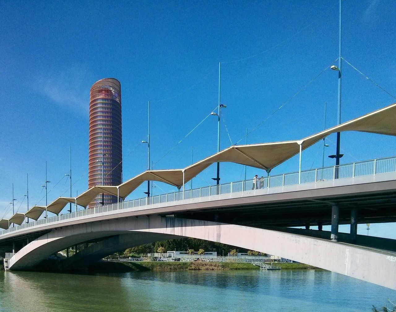 Puente del Cristo de la Expiración Alternative Energy Architecture Bridge Bridge - Man Made Structure Built Structure Connection Development Engineering Environmental Conservation Famous Place Fuel And Power Generation International Landmark No People Renewable Energy SUPPORT Wind Power Wind Turbine Windmill