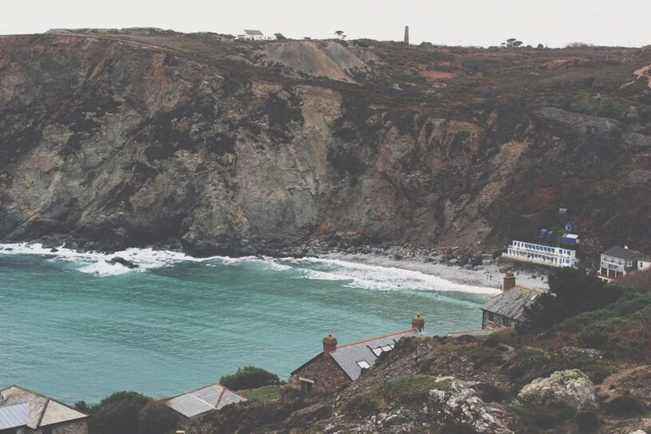 St Agnes Cornwall Cliffside Seaside