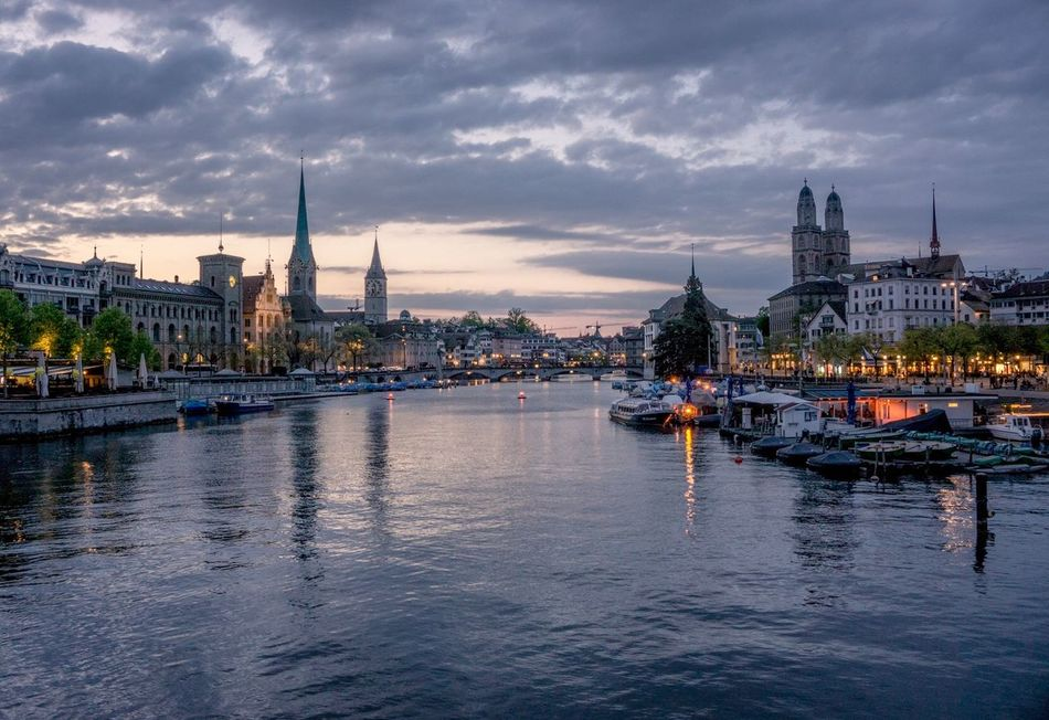 I see peace Architecture Sky Water River Cityscape No People City Outdoors Travel Destinations Holiday Photography April Traveling Zürich Switzerland Wanderlust Europe
