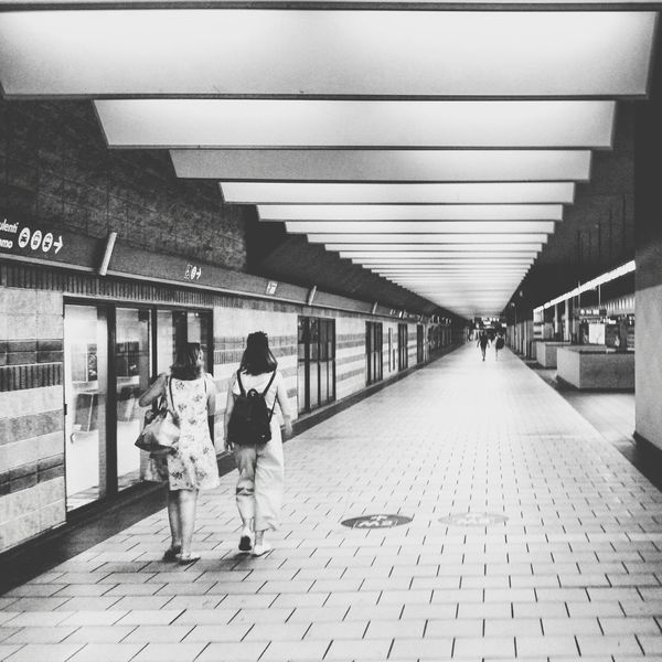 Full Length People Adult Architecture Indoors  Girls Walking Subway Transportation Cityscape City Life Italy Modern Built Structure Travel Destinations Train Station