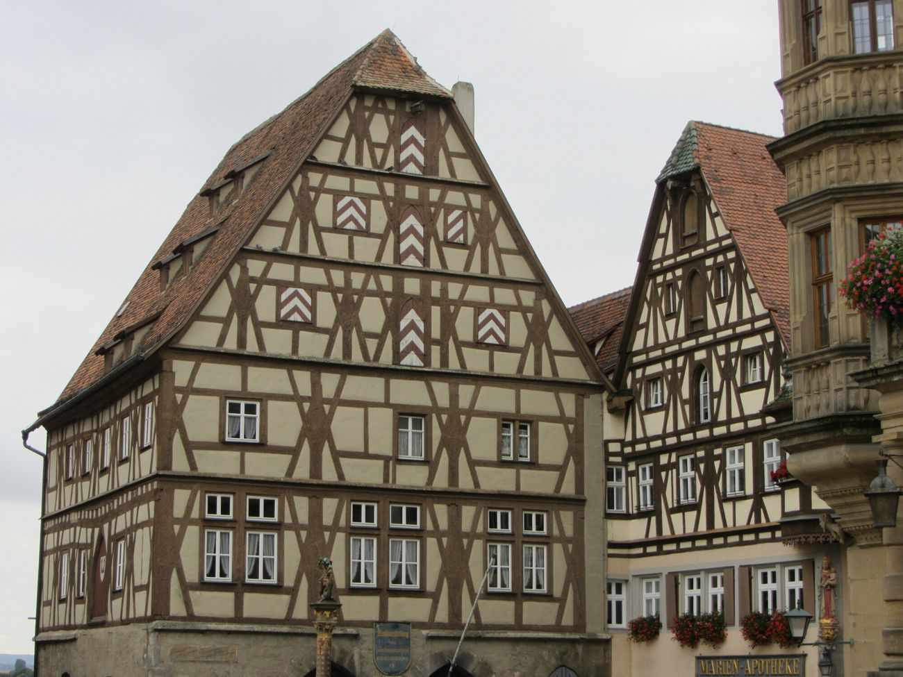 Fachwerkhaus Rothenburg O. T. Germany Traveling