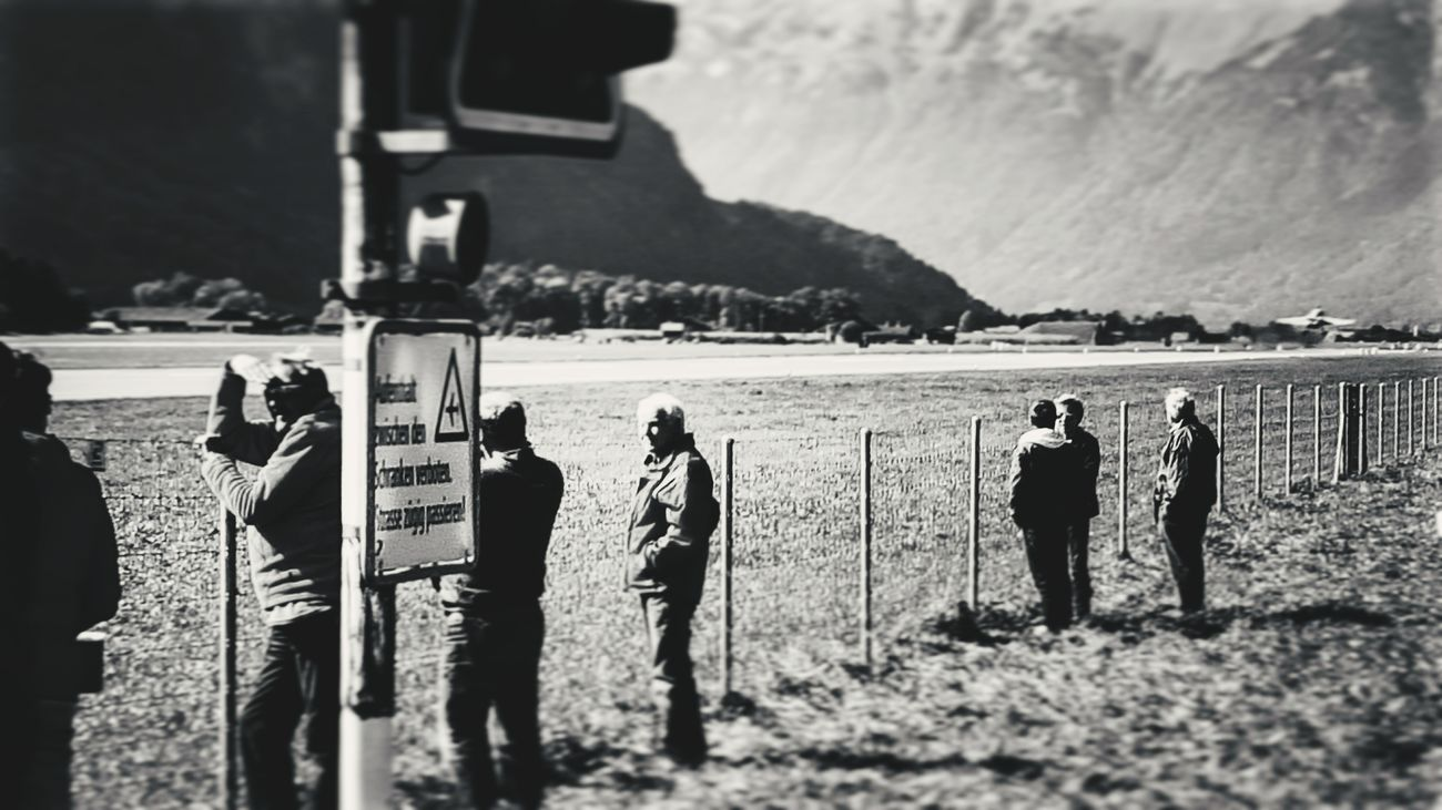 Waiting... Peoplestreet Airport Black And White