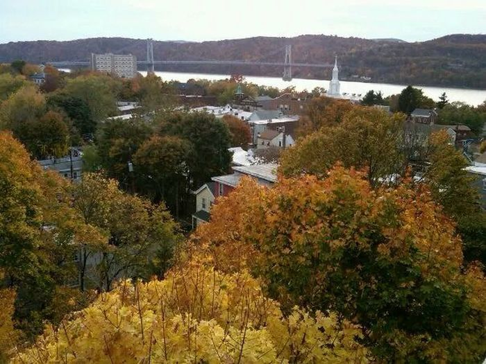 Fall Foliage Crossing The Hudson New York