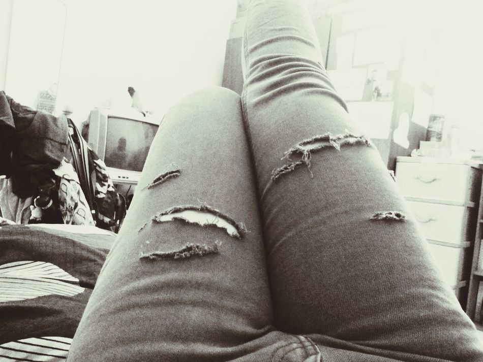 Ripped jeans day Rocker Hanging Out Rocker Fashion