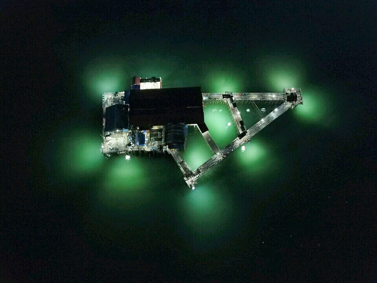 Dronephotography Droneshot Fromsky Night View View Dji Drone  Fishing Sea Above The Sea Above No People Technology Astronomy