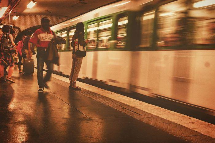 Paris, France  EyeEm Best Shots EyeEm Best Edits Eyeem Urban Photography EyeEmBestPics Transportation Subway Paris Metro February Photo Challenge EyeEm Gallery EyeEm Best Shots - The Streets Metro