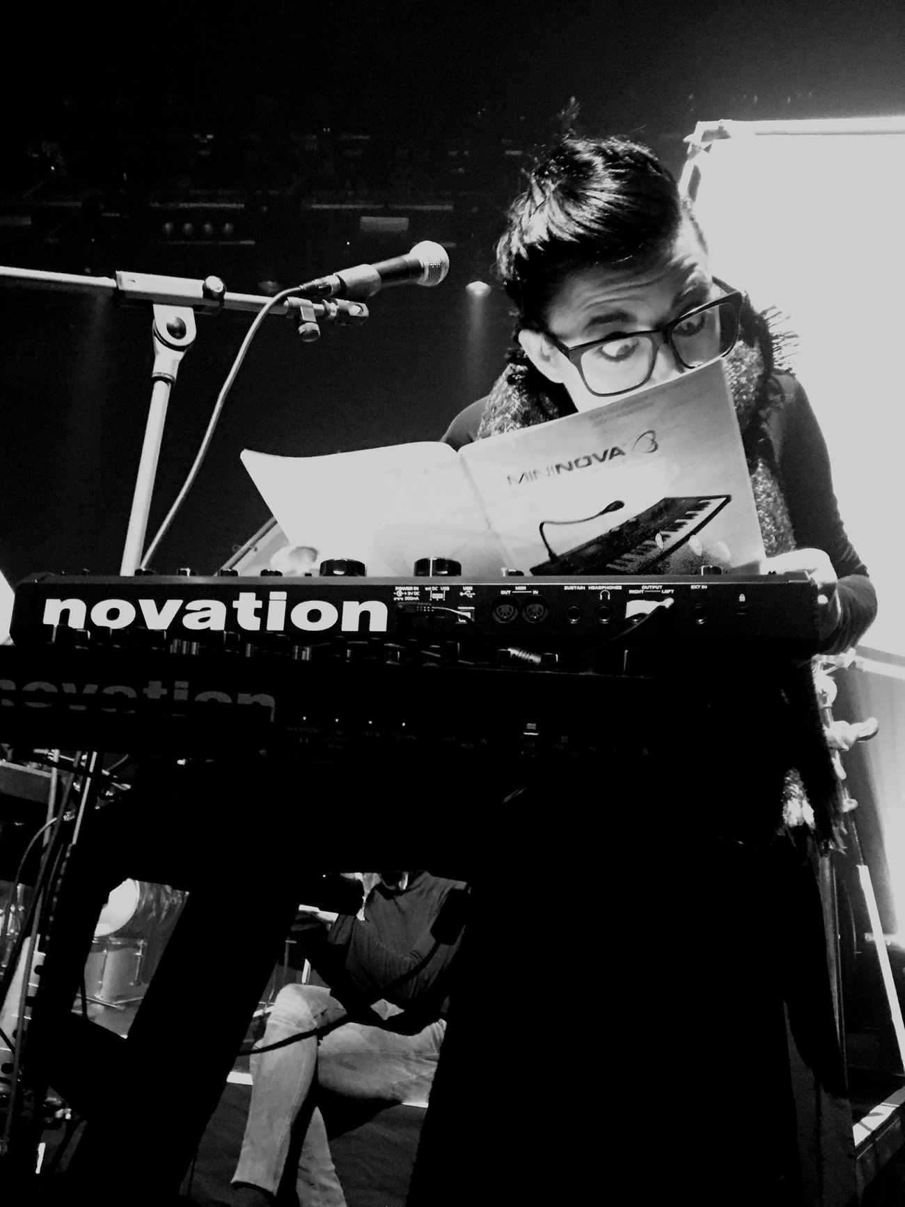 The Madame with lovely New Toys Novation Metanoiatour