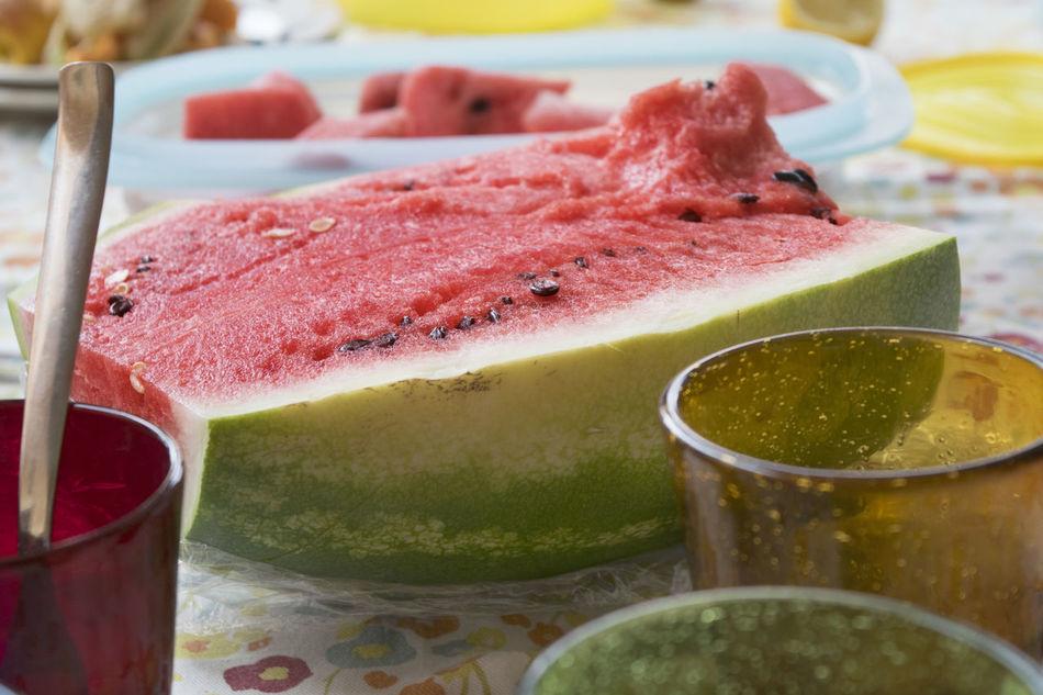 fresh summer watermelon Cube Cut Half Melon Melon Seeds Red Water Watermelon