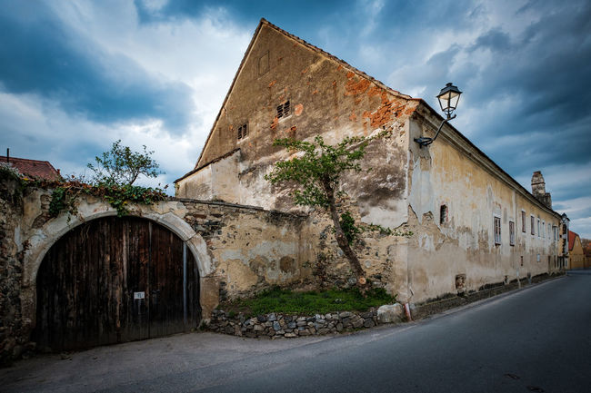 Architecture Building Building Exterior Built Structure Cloud Cloud - Sky Cloudy Day Deterioration Exterior House Lower Austria No People Old Outdoors Residential Building Residential Structure Run-down Sky The Way Forward Wachau Wine