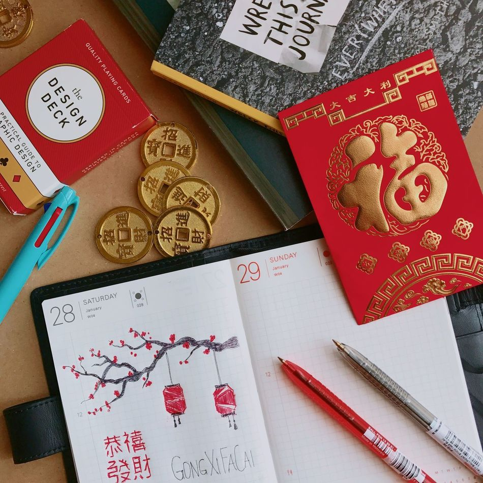 Chinese New Year EyeEm EyeEm Best Shots EyeEm Lifestyle Indoors  No People Close-up Lunar New Year Ang Pao Lucky Coins Hobonichi Lieblingsteil