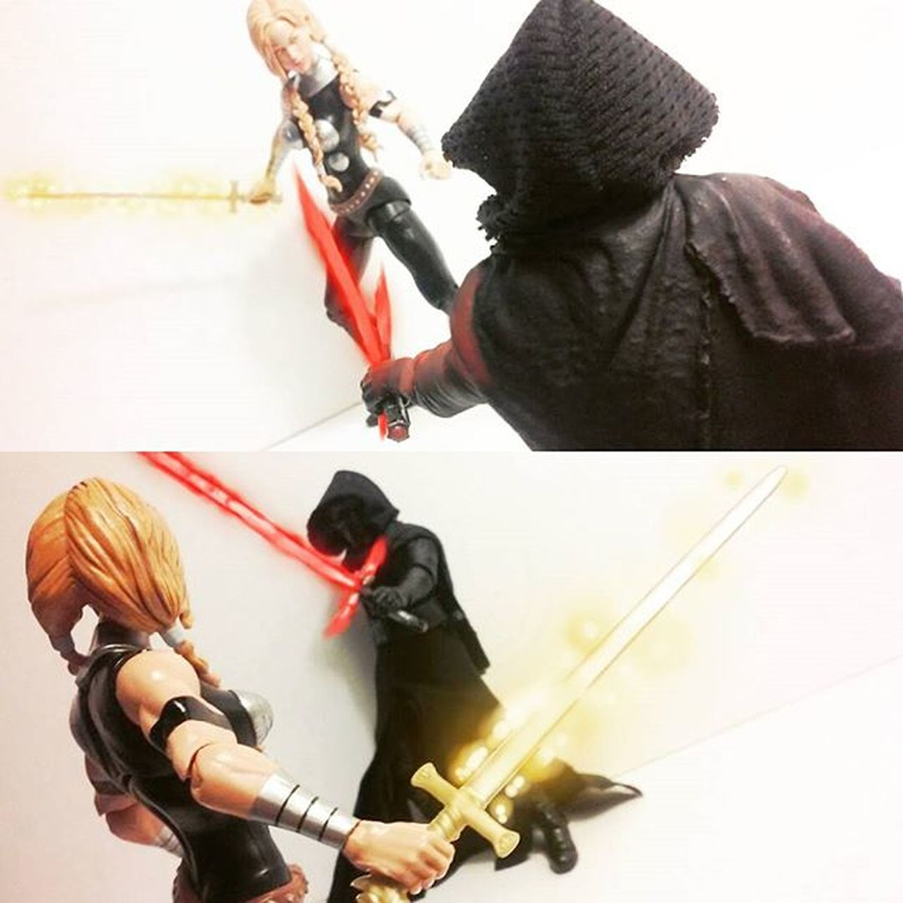 """You..woman! I demand you show me how to return to my world! And if you refuse I'll kill you!"" ""Thou dare to speak to me a asgaurdian woman in such a manner? I shall put you in your place!"" Marvellegends KyloRen Valkyrie Hasbro Manchild Starwarstheblackseries Starwars Theblackseries Blackseries Starwarstheforceawakens ForceAwakens Disney Toyslagram Toyphotography Toycommunity ACBA Articulatedcomicbook Actionfigures Toyunion Actionfiguresphotography Tcb_peekaboo Tcb_flyupandaway Thor  Comics Nerd actiontoyart Figurescollection figures collector anarchyalliance"