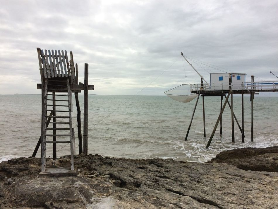 2016 Carrelets Clouds Clouds And Sky Cloudy Horizon Over Water No People Outdoors Sea Sky Tranquility Water Charente-Maritime