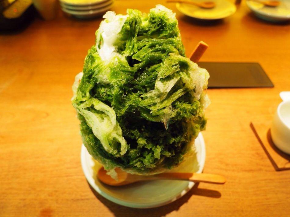 Kyoto Japan Gion Niti Cafe Shaved Ice Matcha Japanese Style Japanese Food Delicious Goodtaste Olympus PEN-F 京都 日本 祇園 カフェ かき氷 抹茶 宇治抹茶金時 激ウマ 天然氷