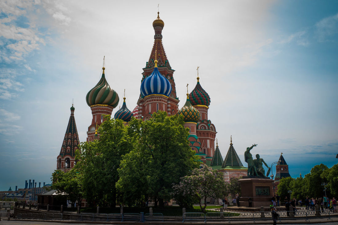 Cathredral Beautiful Church Day St.Basil's Cathedral