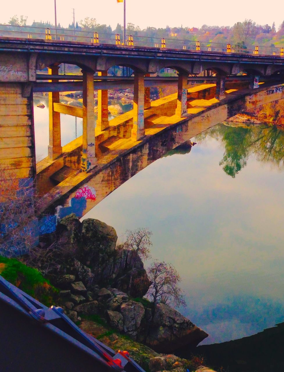bridge - man made structure, connection, architecture, built structure, engineering, transportation, bridge, water, outdoors, river, road, arch, day, nature, sky, no people