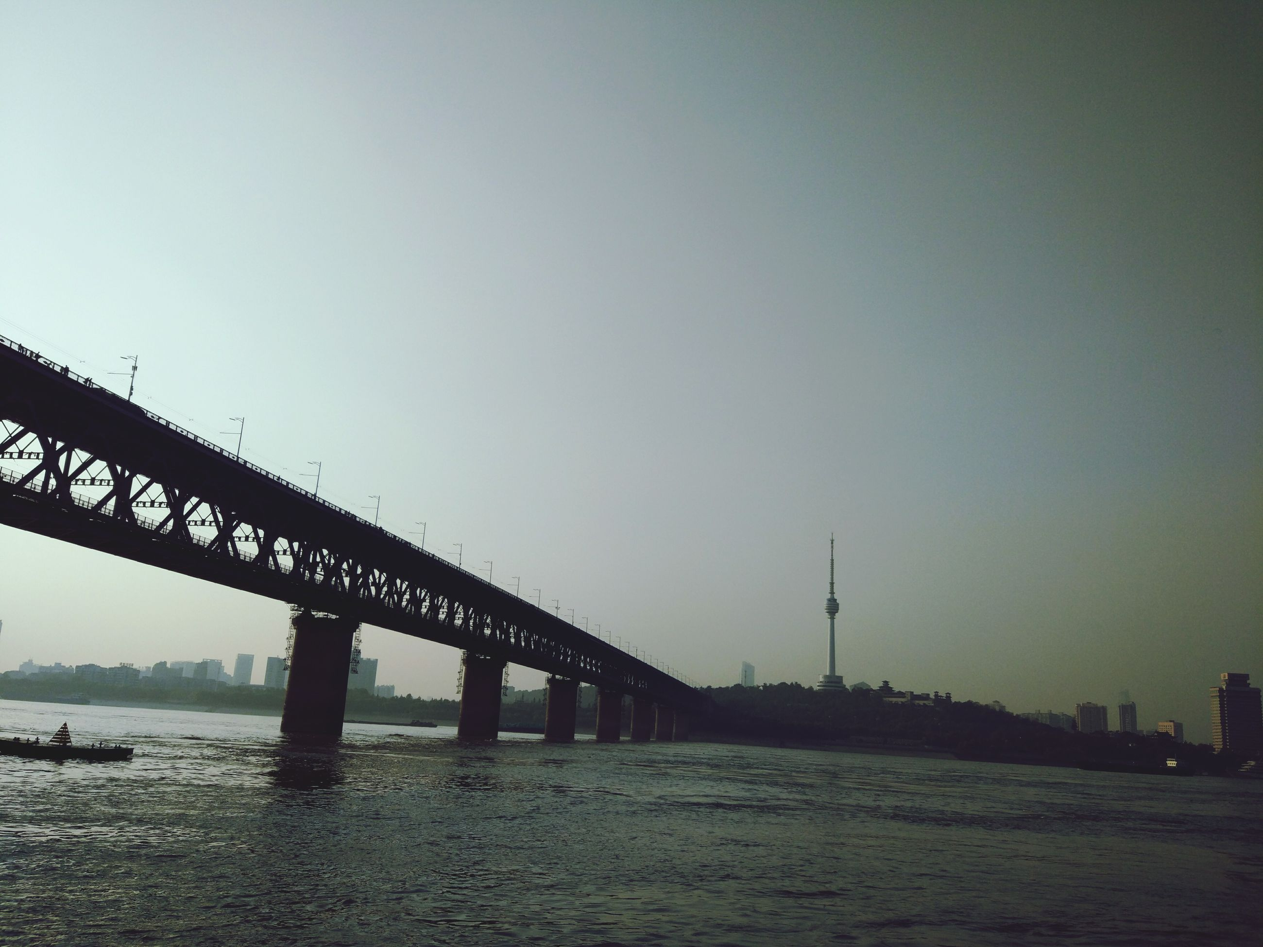 connection, bridge - man made structure, built structure, architecture, city, travel destinations, outdoors, sky, water, no people, day