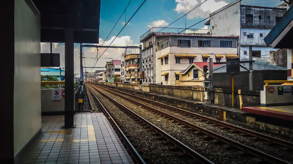 Eyeem Philippines Railroad Buidling Travel Transportation Sky Architecture LRT Taking Photos Architectural Outdoor Train Station