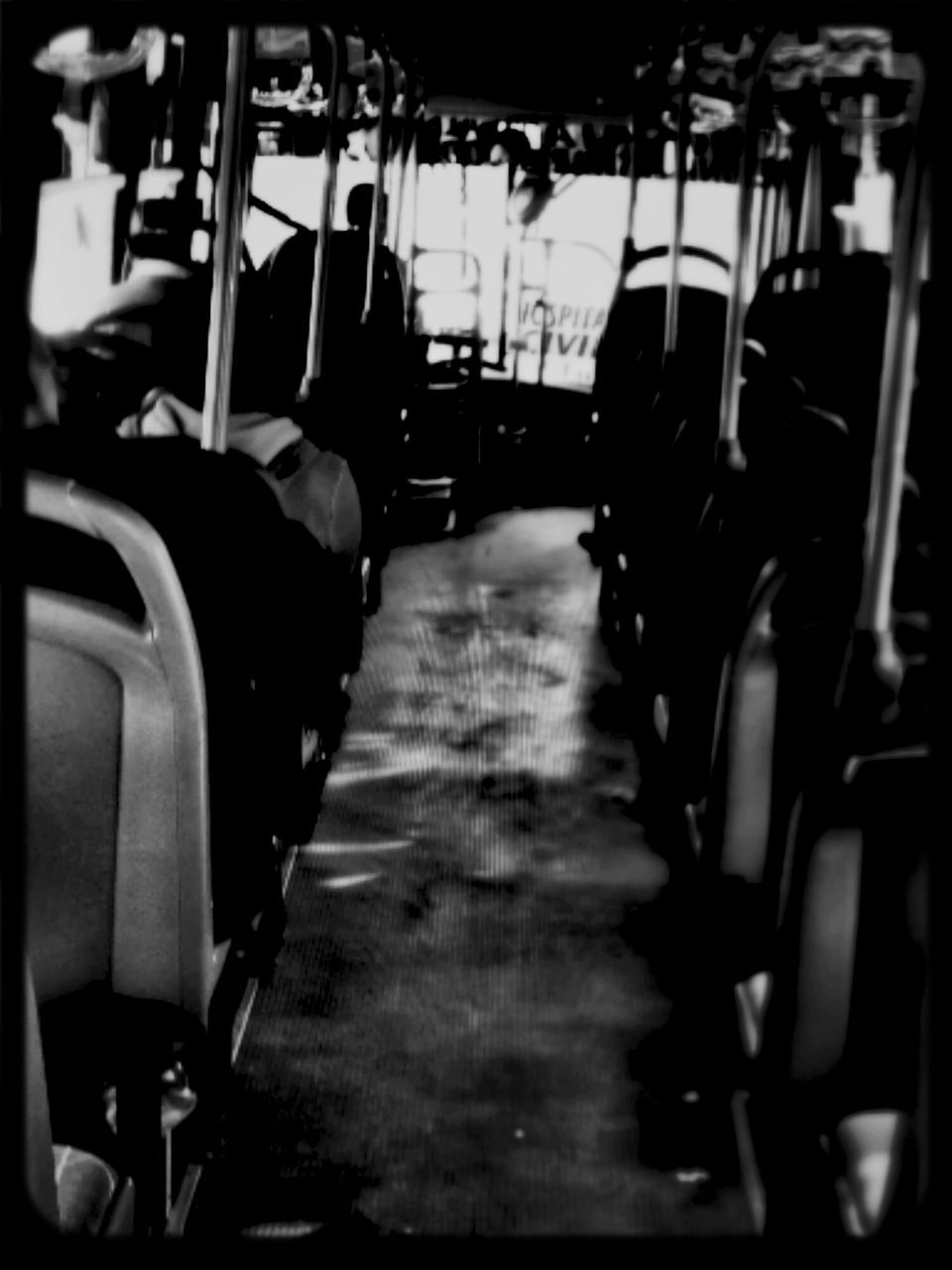seat, in a row, vehicle seat, chair, sitting, transportation, indoors, public transportation, real people, day